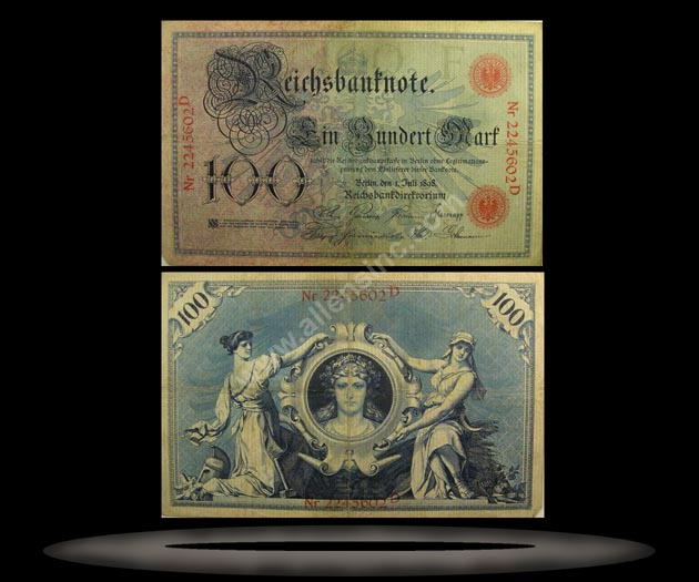 Germany Banknote, 100 Mark, 1.7.1898, P#20a