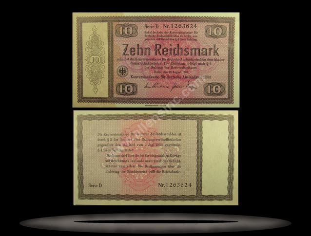 Germany Banknote, 10 Reichsmark, 28.8.1933, P#200