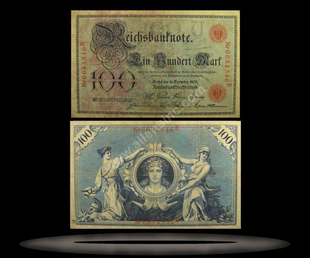 Germany Banknote, 100 Mark, 18.12.1905, P#24a