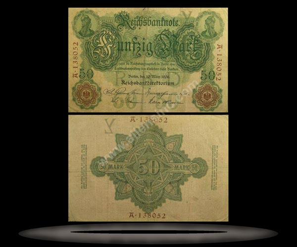 Germany Banknote, 50 Mark, 10.3.1906, P#26b
