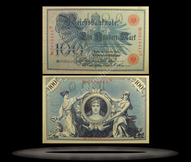 Germany Banknote, 100 Mark, 7.2.1908, P#33a