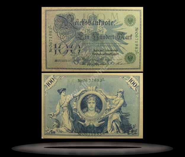Germany Banknote, 100 Mark, 7.2.1908, P#34