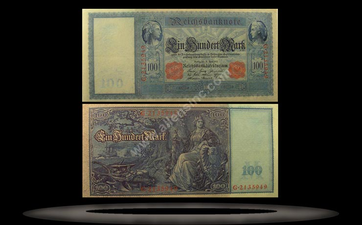 Germany Banknote, 100 Mark, 21.4.1910, P#42