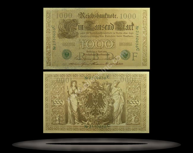 Germany Banknote, 1000 Mark, 21.4.1910, P#45a