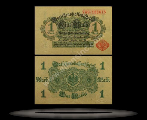 Germany Banknote, 1 Mark, 12.8.1914, P#51