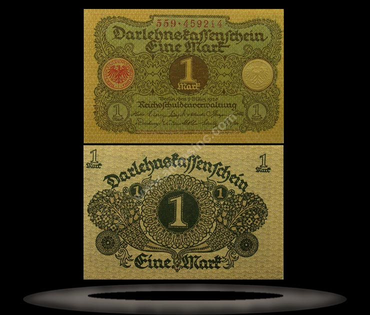 Germany Banknote, 1 Mark, 1.3.1920, P#58