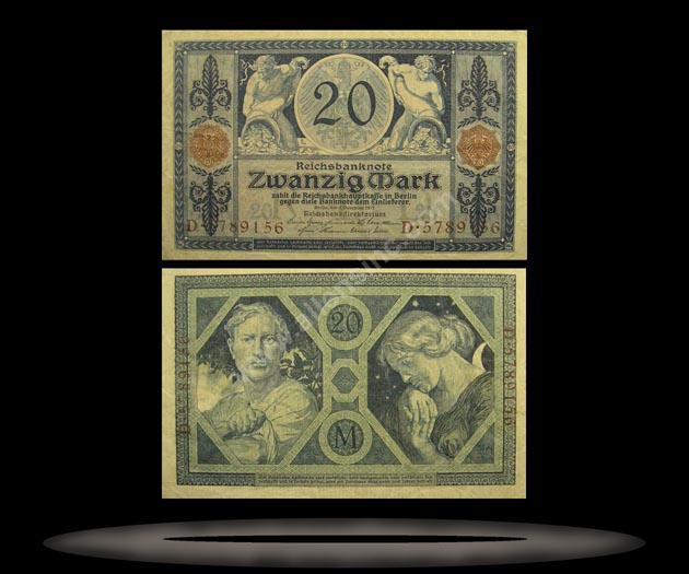 Germany Banknote, 20 Mark, 4.11.1915, P#63