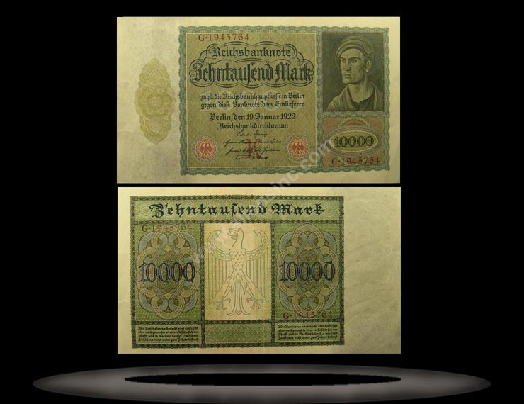 Germany Banknote, 10,000 Mark, 19.11.1922, P#70