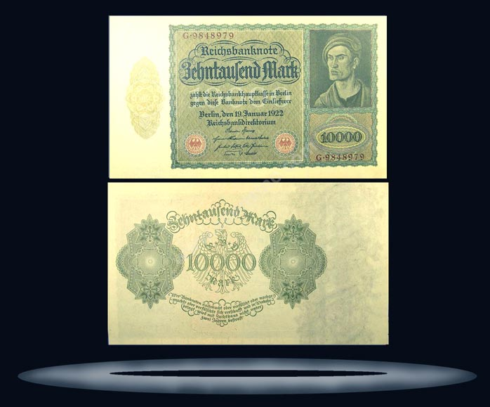 Germany Banknote, 10,000 Mark, 19.11.1922, P#71