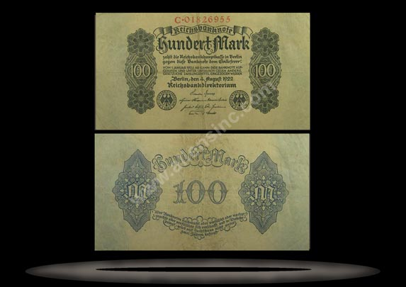 Germany Banknote, 100 Mark, 4.8.1922, P#75