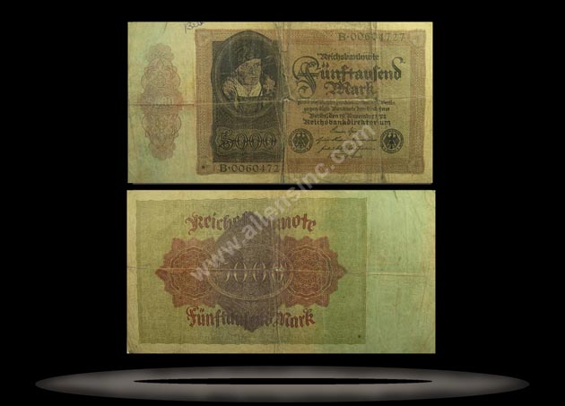 Germany Banknote, 5000 Mark, 19.11.1922, P#78