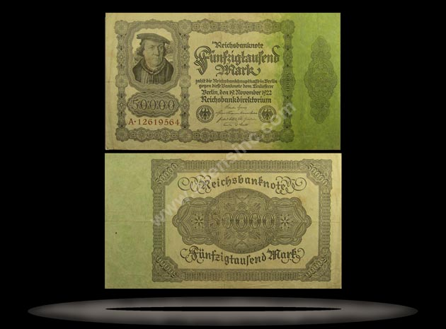 Germany Banknote, 50,000 Mark, 19.11.1922, P#79