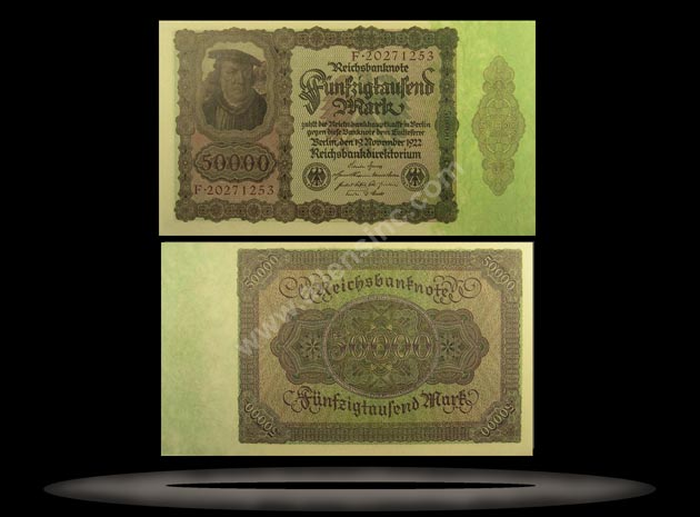Germany Banknote, 50,000 Mark, 19.11.1922, P#80
