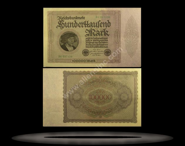 Germany Banknote, 100,000 Mark, 1.2.1923, P#83a