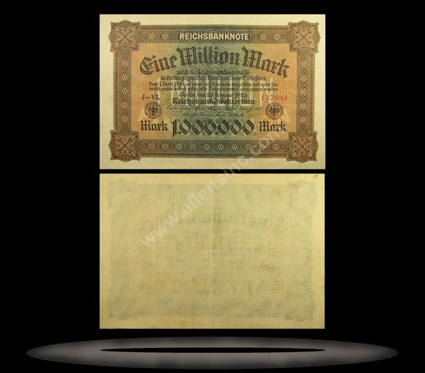 Germany Banknote, 1 Million Mark, 20.2.1923, P#86a