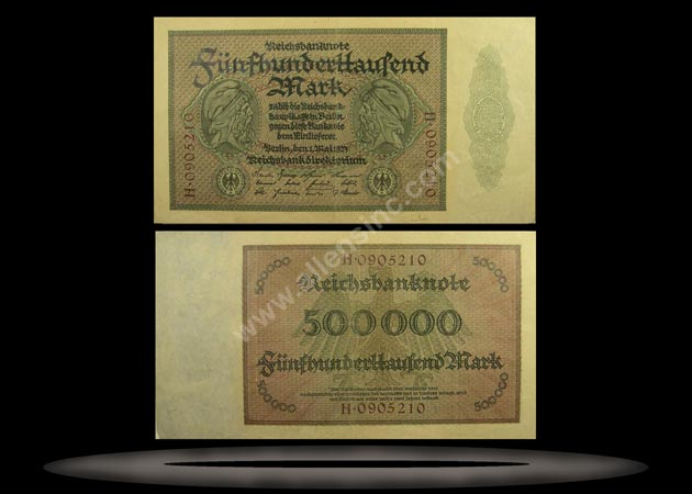 Germany Banknote, 500,000 Mark, 1.5.1923, P#88a
