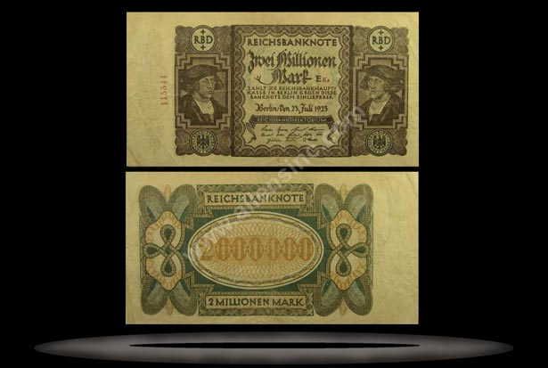Germany Banknote, 2 Millionen Mark, 23.7.1923, P#89a