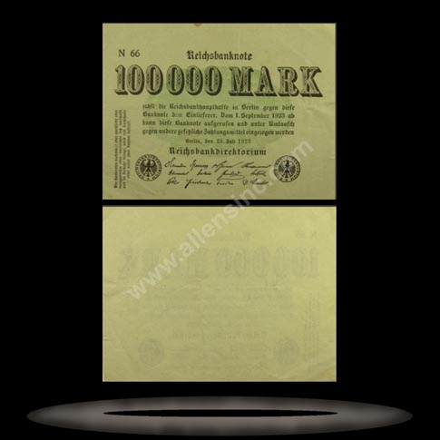 Germany Banknote, 100,000 Mark, 25.7.1923, P#91a