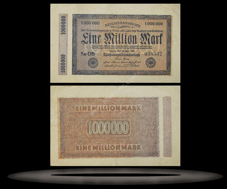 Germany Banknote, 1 Million Mark, 25.7.1923, P#93