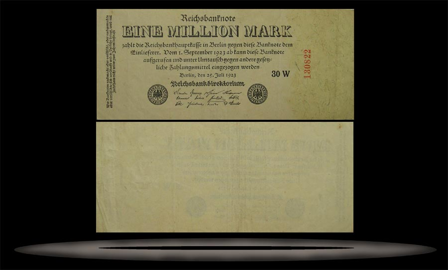 Germany Banknote, 1 Million Mark, 25.7.1923, P#94