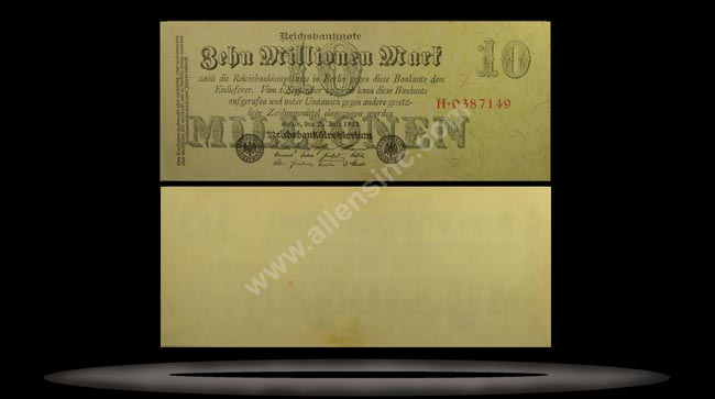 Germany Banknote, 10 Millionen Mark, 25.7.1923, P#96
