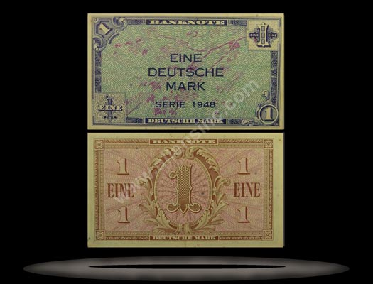 Allied Occupation of Germany, West Banknote, 1 Deutsche Mark, 1948, P#2a