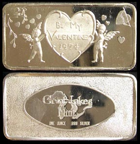 Be My Valentine - 1974' Art Bar by Great Lakes Mint. MAIN