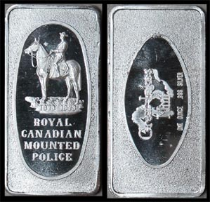 Royal Canadian Mounted Police' Art Bar by Great Lakes Mint.