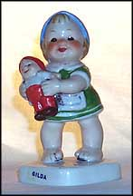 Gilda The Little Mother, Goebel Co-Boy's Kinder Figurine  #601 MAIN