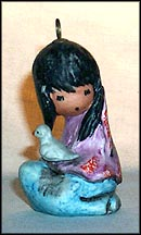 The White Dove Ornament, Goebel Figurine by Ted DeGrazia  #102201