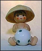 Baby With Hat And Ball, Goebel Figurine  #10506 MAIN