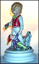 Boy With Horse, Goebel Lore Blumenkinder Figurine  #11274-20