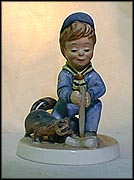 Curiosity, Goebel Amerikids Figurine by Harry Holt  #11602-12 MAIN