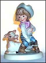 Rodeo Cowboy, Goebel Amerikids Figurine by Harry Holt  #11603-13 MAIN
