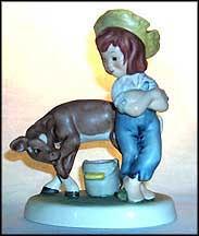 Waiting To Produce, Goebel Amerikids Figurine by Harry Holt  #11629-14 MAIN