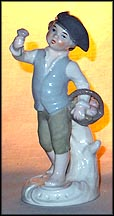 Colonial Boy with Basket of Flowers, Goebel Figurine  #12200 14