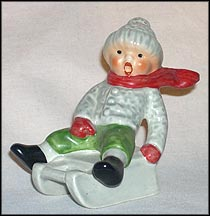 Boy Sledding, Goebel Figurine  #13904-07
