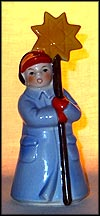 Boy with Pole, Star at Top, Goebel Figurine  #13916