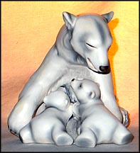 Polar Bear and Cubs, Goebel Figurine  #36002 12
