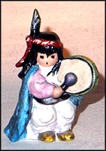 Pima Drummer Boy- mini, Goebel Figurine by Ted DeGrazia  #506P MAIN