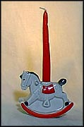 Rocking Horse Candle Holder, Goebel Figurine  #54403-08