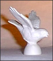 Bird - white, Goebel Figurine  #CV 48