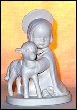 Holy Child with Lamb (white), Goebel Figurine  #HJ 19