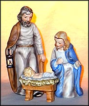 Joseph, Mary and Baby Jesus, Goebel Figurine  #HX 281 A/B/C