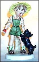 Boy With Dog And Ball, Goebel Figurine by Nasha  #Na20