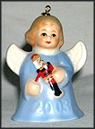 2003 Angel With Nutcracker - Blue, Goebel Angel Bell