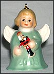2003 Angel With Nutcracker - Green, Goebel Angel Bell