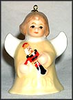 2003 Angel With Nutcracker - Yellow, Goebel Angel Bell