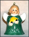 2004 Angel With Toy Car - Green, Goebel Angel Bell