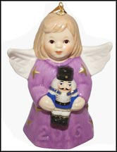 2016 Angel With Nutcracker - Lavender, Goebel Angel Bell